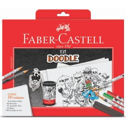 KIT DOODLE FABER CASTELL 8 ITENS