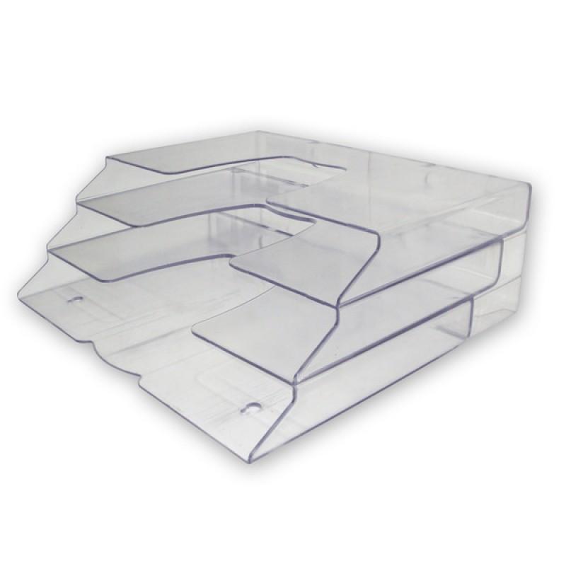 Display organizador mesa triplo cristal 7310 acrinil - Sobre de cristal para mesa ...